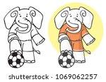 illustration of an elephant in... | Shutterstock .eps vector #1069062257