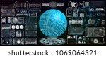 hud ui elements design for... | Shutterstock .eps vector #1069064321