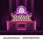 cinema theatre building... | Shutterstock .eps vector #1069069454