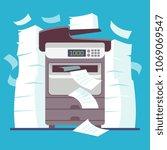 multifunction office printer ...   Shutterstock .eps vector #1069069547