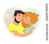 man and woman in love. st....   Shutterstock .eps vector #1069078445