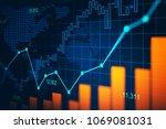 stock market or forex trading... | Shutterstock . vector #1069081031