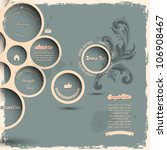 retro design bubbles on grunge... | Shutterstock .eps vector #106908467