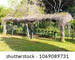 outdoors class for activities... | Shutterstock . vector #1069089731