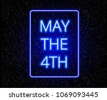 may the 4th abstract background ... | Shutterstock .eps vector #1069093445