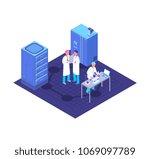 chemistry  pharmaceutical lab... | Shutterstock .eps vector #1069097789
