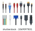 cable wire computer video ...   Shutterstock .eps vector #1069097831