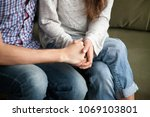 close up of couple holding... | Shutterstock . vector #1069103801