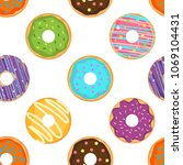 seamless pattern with cute... | Shutterstock .eps vector #1069104431