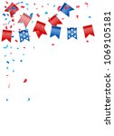 bunting party flags with... | Shutterstock .eps vector #1069105181