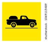 pickup truck icon vector | Shutterstock .eps vector #1069115489