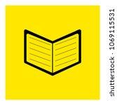 book icon vector | Shutterstock .eps vector #1069115531