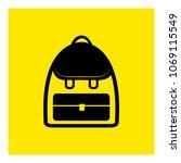 backpack. school bag icon vector   Shutterstock .eps vector #1069115549