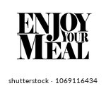 enjoy your meal decorative...