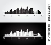 newark usa skyline and... | Shutterstock .eps vector #1069121894