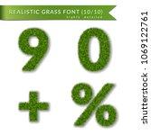 grass percent  nine  zero  plus ... | Shutterstock .eps vector #1069122761