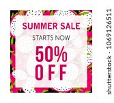 colorful summer sale banner... | Shutterstock .eps vector #1069126511