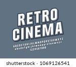 vector beveled sign retro... | Shutterstock .eps vector #1069126541