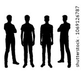 vector silhouettes of men ... | Shutterstock .eps vector #1069126787