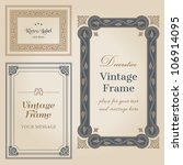 vintage frames and design... | Shutterstock .eps vector #106914095