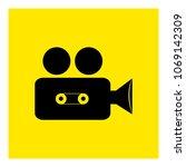 cinema camcorder icon vector | Shutterstock .eps vector #1069142309