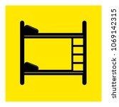 bunk bed icon vector | Shutterstock .eps vector #1069142315
