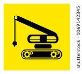 tractor demolisher icon vector | Shutterstock .eps vector #1069142345