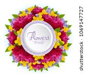 vector banner with realistic... | Shutterstock .eps vector #1069147727