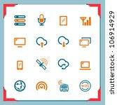 wireless technology | Shutterstock .eps vector #106914929