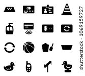 solid vector icon set   taxi... | Shutterstock .eps vector #1069159727