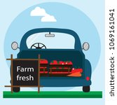 fast delivery of fresh... | Shutterstock .eps vector #1069161041