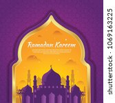ramadan karem background   Shutterstock .eps vector #1069163225