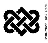 celtic love knot vector | Shutterstock .eps vector #1069164041