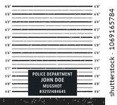 police mugshot board template.... | Shutterstock .eps vector #1069165784