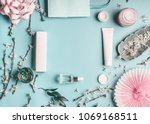 beauty concept with facial... | Shutterstock . vector #1069168511
