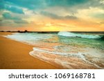 beautiful tropical sea view... | Shutterstock . vector #1069168781