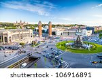 view of the center of barcelona.... | Shutterstock . vector #106916891