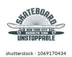 skateboard logo in the style of ... | Shutterstock .eps vector #1069170434