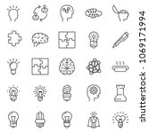 thin line icon set   idea... | Shutterstock .eps vector #1069171994