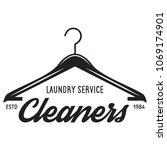 vector laundry logo emblem ... | Shutterstock .eps vector #1069174901
