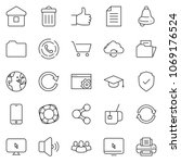 thin line icon set   setup page ... | Shutterstock .eps vector #1069176524