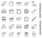 thin line icon set   sausage... | Shutterstock .eps vector #1069182614