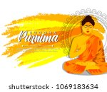 illustration of buddha purnima... | Shutterstock .eps vector #1069183634