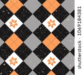 seamless argyle pattern....   Shutterstock .eps vector #1069184381