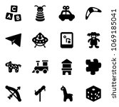 solid vector icon set   abc... | Shutterstock .eps vector #1069185041