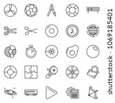 thin line icon set   around the ... | Shutterstock .eps vector #1069185401