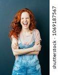 vivacious confident young... | Shutterstock . vector #1069187567