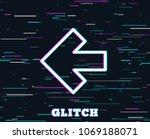 glitch effect. left arrow line... | Shutterstock .eps vector #1069188071