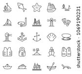 thin line icon set   chasm...   Shutterstock .eps vector #1069190231
