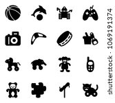 Solid Vector Icon Set   Ball...